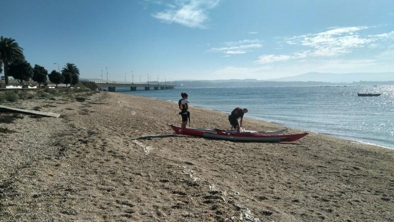 Met de kano over de Ría de Arousa
