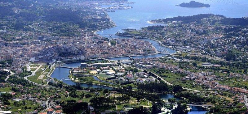 Pontevedra aan de Lérez en de Ría de Pontevedra