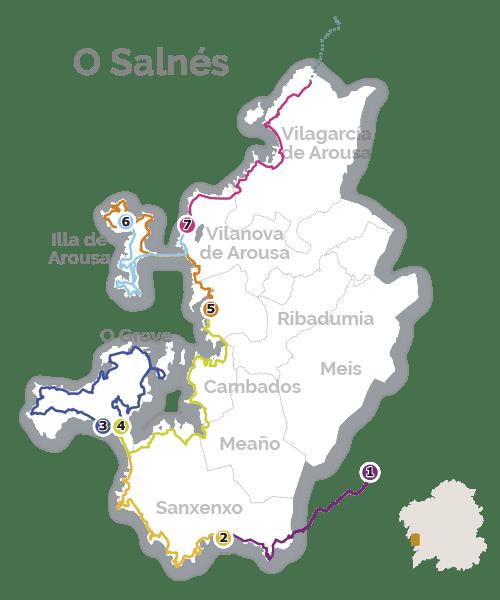 Route van Padre Sarmiento