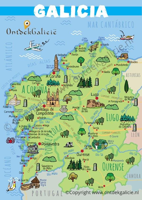 Kaart van Galicië