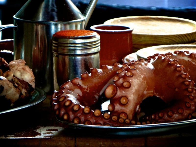 Pulpo is niet weg te denken uit de Galicische keuken