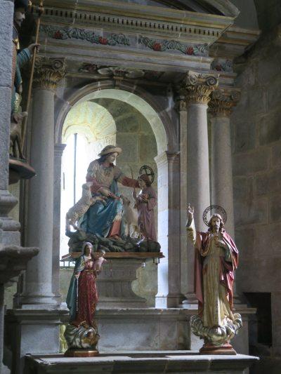 Interieur kerk Armenteira