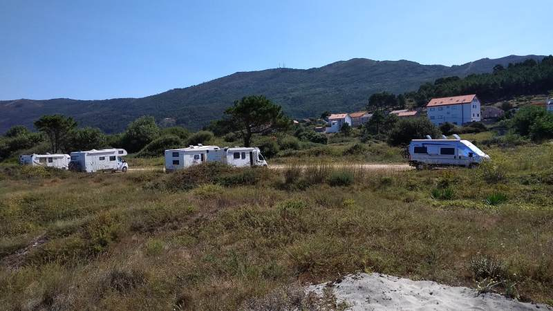 Campers in Carnota