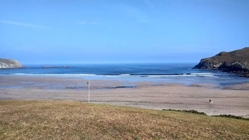 Surfstrand Pantín, kust van Ferrol