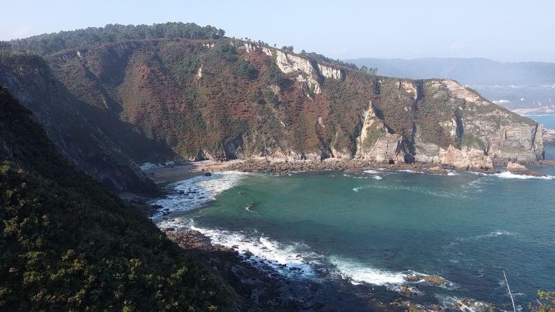 De kust van O Vicedo in Lugo