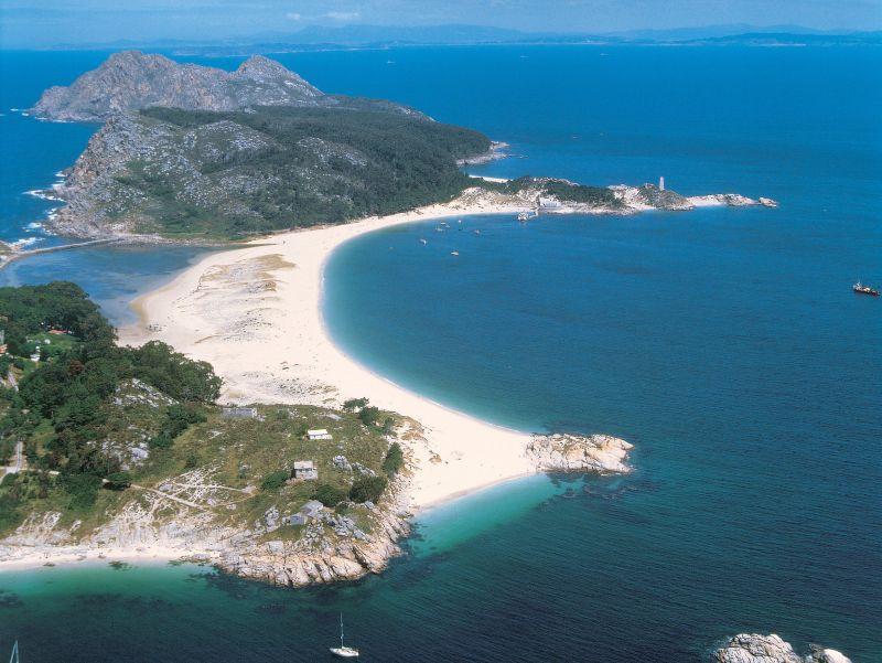 Cíes Eilanden voor de kust van Galicië