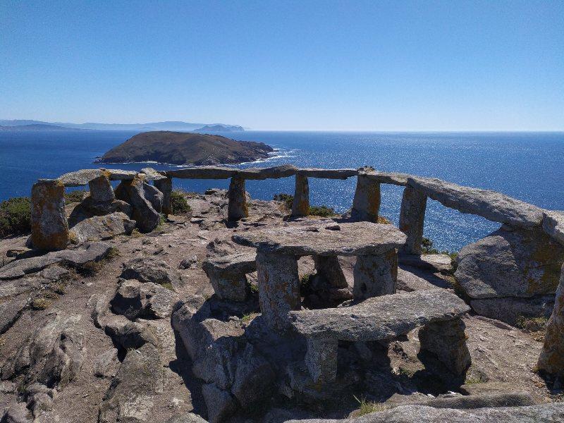 Het Eiland Ons voor de kust van Galicië