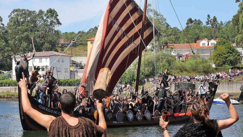 Vikingen in Catoira