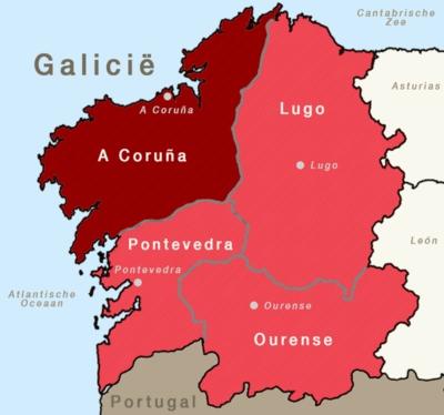 Provincie A Coruña, Galicië