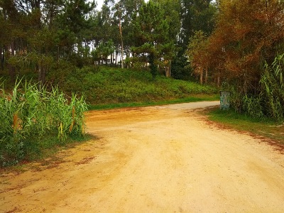 Route van Padre Sarmiento, bij Portonovo