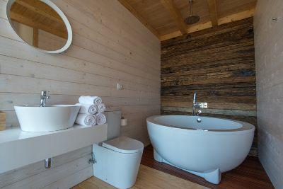 Badkamer bungalow op palen