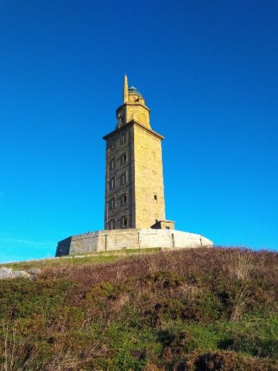 De bekendste vuurtoren van Galicië, de toren van Hércules