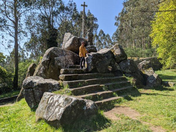 De rotsen waar de Apostel Santiago predikte