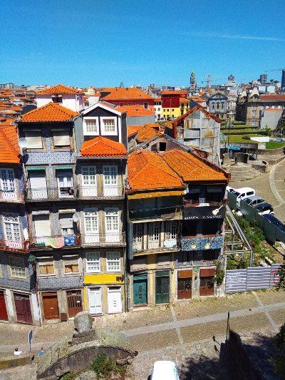 De oude binnenstad van Porto