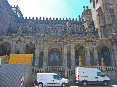 Azulejos bij de Kathedraal van Porto